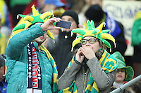 LONDRES, INGLATERRA, 06 DE FEVEREIRO 2013 - AMISOTOSO INGLATERRA X BRASIL - Torcedores brasileiros .em partida amistosa realizada no Estádio de Wembley, em Londres, Inglaterra, nesta quarta-feira. FOTO: GUILHERME ALMEIDA - BRAZIL PHOTO PRESS.