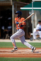 GCL Astros Franklin Pinto (21) bats during a Gulf Coast League game against the GCL Marlins on August 8, 2019 at the Roger Dean Chevrolet Stadium Complex in Jupiter, Florida.  GCL Astros defeated GCL Marlins 4-2.  (Mike Janes/Four Seam Images)