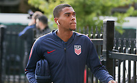 TORONTO, ON - OCTOBER 15: Reggie Cannon #20 of the United States as he enters the stadium during a game between Canada and USMNT at BMO Field on October 15, 2019 in Toronto, Canada.
