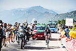 Romain Bardet (FRA) Team DSM attacks from the breakaway during Stage 14 of La Vuelta d'Espana 2021, running 165.7km from Don Benito to Pico Villuercas, Spain. 28th August 2021.     <br /> Picture: Unipublic/Charly Lopez   Cyclefile<br /> <br /> All photos usage must carry mandatory copyright credit (© Cyclefile   Charly Lopez/Unipublic)