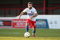 Sam Deering of Dagenham during Dagenham & Redbridge vs Stockport County, Vanarama National League Football at the Chigwell Construction Stadium on 8th February 2020