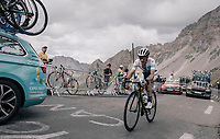 white jersey Simon Yates (GBR/Orica-Scott) up the highest point in the 2017 TdF: The Galibier (HC/2642m/17.7km/6.9%)<br /> <br /> 104th Tour de France 2017<br /> Stage 17 - La Mure › Serre-Chevalier (183km)