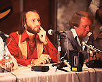 Bee Gees 1978  Maurice Gibb & Robert Stigwood at Sgt Pepper Press Conference...