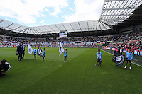 Pictured: Saturday 23 August 2014<br /> Re: Premier League, Swansea City FC v Burnley at the Liberty Stadium, south Wales