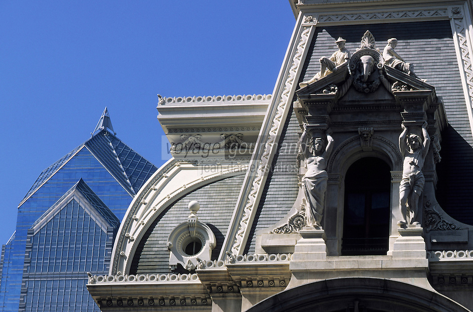 Amérique/Amérique du Nord/USA/Etats-Unis/Vallée du Delaware/Pennsylvanie/Philadelphie : Architecture du City Hall et gratte ciel de la Skyline