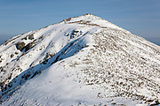 Mount Lafayette from the Appalachian Trail (Franconia Ridge Trail) in the White Mountains of New Hampshire USA during the winter months.