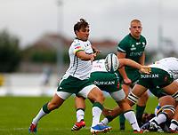 11th September 2021; Galway Greyhound Stadium, Connacht, Galway, Ireland; Pre-season rugby union, Connacht versus London irish; Nick Phipps kicks clear for London Irish