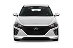 Car photography straight front view of a 2018 Hyundai Ioniq Plug-In Hybrid Base 5 Door Hatchback