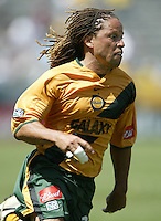 12 June 2004: Cobi Jones in action against Chicago Fire at Home Depot Center in Los Angeles, California.    Los Angeles defeated Chicago Fire, 3-2.  Mandatory Credit: Michael Pimentel / ISI