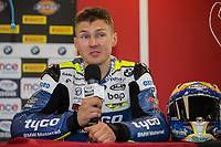 Christian Iddon of the Tyco BMW team after finishing 3rd in Race Two of the 2017 BSB Round 6 - Brands Hatch GP Circuit at Brands Hatch, Longfield, England on Sunday 23 July 2017. Photo by David Horn/PRiME Media Images