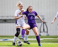 Kate Bishop (4) of Fayetteville takes control of ball against St. Mary's Academy at Wildcat Stadium, Springdale, Arkansas, Friday, May 14, 2021 / Special to NWA Democrat-Gazette/ David Beach