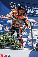 3rd October 2021; Austin, Texas, USA; Marc Marquez (93) - (SPA) very happy with his win at the MotoGP Red Bull Grand Prix of the Americas held October 3, 2021 at the Circuit of the Americas