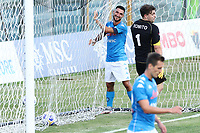 Matteo Politano of SSC Napoli celebrates after scoring a goal<br /> during the friendly football match between SSC Napoli and Castel di Sangro Cep 1953 at stadio Patini in Castel di Sangro, Italy, August 28, 2020. <br /> Photo Cesare Purini / Insidefoto