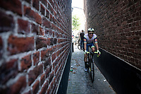 Boy van Poppel (NED/Intermarché - Wanty - Gobert) getting back to the teambus post-race<br /> <br /> 17thBenelux Tour 2021 (2.UWT)<br /> (Final) Stage 7: from Namur to Geraardsbergen (178km)<br /> <br /> ©kramon