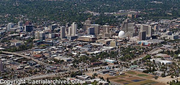 aerial photograph of the Reno, Washoe County, Nevada skyline