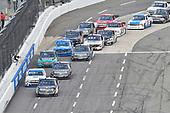 #4: Todd Gilliland, Kyle Busch Motorsports, Toyota Tundra Mobil 1, #45: Ross Chastain, Niece Motorsports, Chevrolet Silverado CarShield, #18: Harrison Burton, Kyle Busch Motorsports, Toyota Tundra Safelite AutoGlass, #13: Johnny Sauter, ThorSport Racing, Ford F-150 Tenda Heal