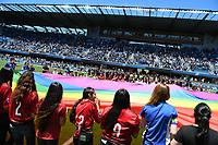 SAN JOSE, CA - JUNE 8: Flag bearers during a game between FC Dallas and San Jose Earthquakes at Avaya Stadium on June 8, 2019 in San Jose, California.