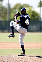 Santo Manzanilo / Milwaukee Brewers 2008 Instructional League..Photo by:  Bill Mitchell/Four Seam Images