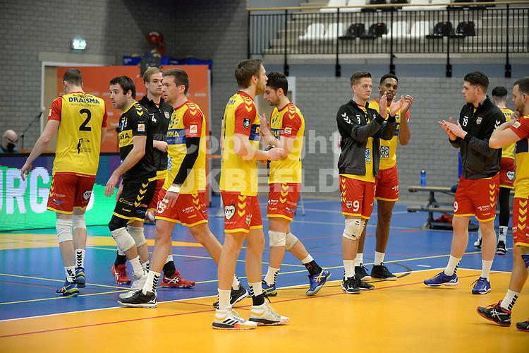 18-04-2021: Volleybal: Amysoft Lycurgus v Draisma Dynamo: Groningen, teleurstelling bij Dynamo