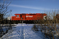 Montreal (Qc) CANADA - File photo taken between 1983 and 1999  - CP Rail train in winter