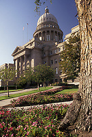 AJ3597, State Capitol, Boise, State House, Idaho, State Capitol building in the capital city of Boise in the state of Idaho.