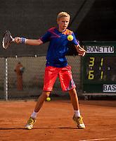 10-08-13, Netherlands, Rotterdam,  TV Victoria, Tennis, NJK 2013, National Junior Tennis Championships 2013, Ronetto van Tilburg wins boys 14 years<br /> <br /> Photo: Henk Koster