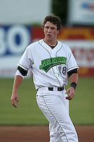 Jamestown Jammers Chris Coghlan during a NY-Penn League game at Russell Diethrick Park on August 11, 2006 in Jamestown, New York.  (Mike Janes/Four Seam Images)