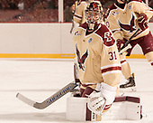 Joe Woll (BC - 31) - The Boston College Eagles defeated the Providence College Friars 3-1 (EN) on Sunday, January 8, 2017, at Fenway Park in Boston, Massachusetts.The Boston College Eagles defeated the Providence College Friars 3-1 (EN) on Sunday, January 8, 2017, at Fenway Park.