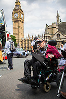 """24.06.2015 - """" #SaveILF Protest in the House of Commons during #PMQs """""""
