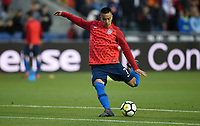 Cary, N.C. - Tuesday March 27, 2018: Bobby Wood during an International friendly game between the men's national teams of the United States (USA) and Paraguay (PAR) at Sahlen's Stadium at WakeMed Soccer Park.
