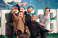 "Jason Momoa, Ezra Miller, Gal Gadot, Ben Affleck, Ray Fisher and Henry Cavill<br /> at the ""Justice League"" photocall,  London<br /> <br /> <br /> ©Ash Knotek  D3345  04/11/2017"