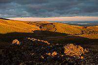 Sunrise on volcanic plateau near Mount Ruapehu, Tongariro National Park, Central Plateau, North Island, UNESCO World Heritage Area, New Zealand, NZ