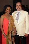"Omana and Sam Abraham at the 2016 Houston Symphony Gala ""Carnaval"" at Jones Hall Saturday May 14,2016(Dave Rossman Photo)"