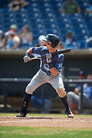 West Michigan Whitecaps second baseman Kody Clemens (21) squares around to bunt during a game against the Quad Cities River Bandits on July 23, 2018 at Modern Woodmen Park in Davenport, Iowa.  Quad Cities defeated West Michigan 7-4.  (Mike Janes/Four Seam Images)