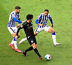 17.10.2020, OLympiastadion, Berlin, GER, DFL, 1.FBL, Hertha BSC VS. VfB Stuttgart, <br /> DFL  regulations prohibit any use of photographs as image sequences and/or quasi-video<br /> im Bild Carneiro da Cunha (Hertha BSC Berlin #10), Marvin Plattenhardt (Hertha BSC Berlin #21), Wataru Endo (VfB Stuttgart #3)<br /> <br />       <br /> Foto © nordphoto / Engler