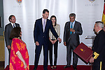 16.07.2012. Prince Felipe of Spain and Princess Letizia of Spain attends the Giving of the 8 th Edition of ´Luis Carandell´ Parliamentary Journalism in the Senate Building. In the image President of the Senate Pio Garcia Escudero , Prince Felipe, Princess Letizia, Rocio Antoñanzas and President of the Congress Jesus Posada Moreno  (Alterphotos/Marta Gonzalez)