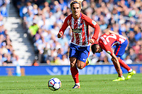 Antoine Griezmann of Atletico Madrid (7) during the pre season friendly match between Brighton and Hove Albion and Atletico Madrid at the American Express Community Stadium, Brighton and Hove, England on 6 August 2017. Photo by Edward Thomas / PRiME Media Images.
