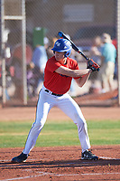 Ryan Mendez (48), from Omaha, Nebraska, while playing for the Red Sox during the Under Armour Baseball Factory Recruiting Classic at Gene Autry Park on December 30, 2017 in Mesa, Arizona. (Zachary Lucy/Four Seam Images)