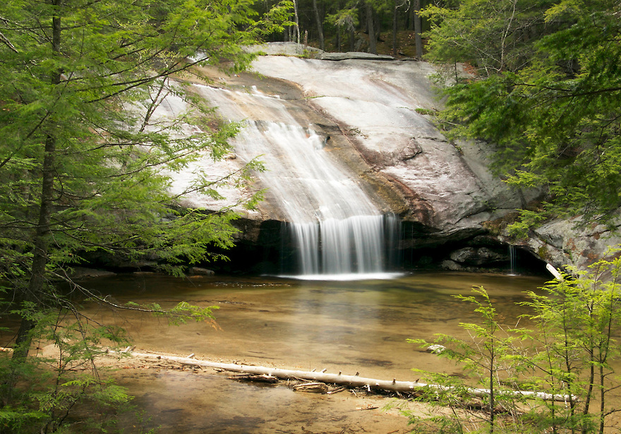 The Bearcamp River rushes over a patch of bedrock forming Beede Falls. Not just photogenic, Beede Falls is also a great swimming hole.