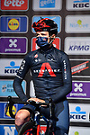Tom Pidcock (GBR) Ineos Grenadiers at sign on before the start of the 76th edition of Omloop Het Nieuwsblad 2021 running 200km from Gent to Ninove, Belgium. 27th February 2021  <br /> Picture: Serge Waldbillig | Cyclefile<br /> <br /> All photos usage must carry mandatory copyright credit (© Cyclefile | Serge Waldbillig)