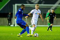Friday 27 October 2017<br /> Pictured: Adam King of Swansea in action <br /> Re: Swansea City U23 v Everton U23 Premier League 2 match at the Landore Training facility, Swansea, Wales, UK