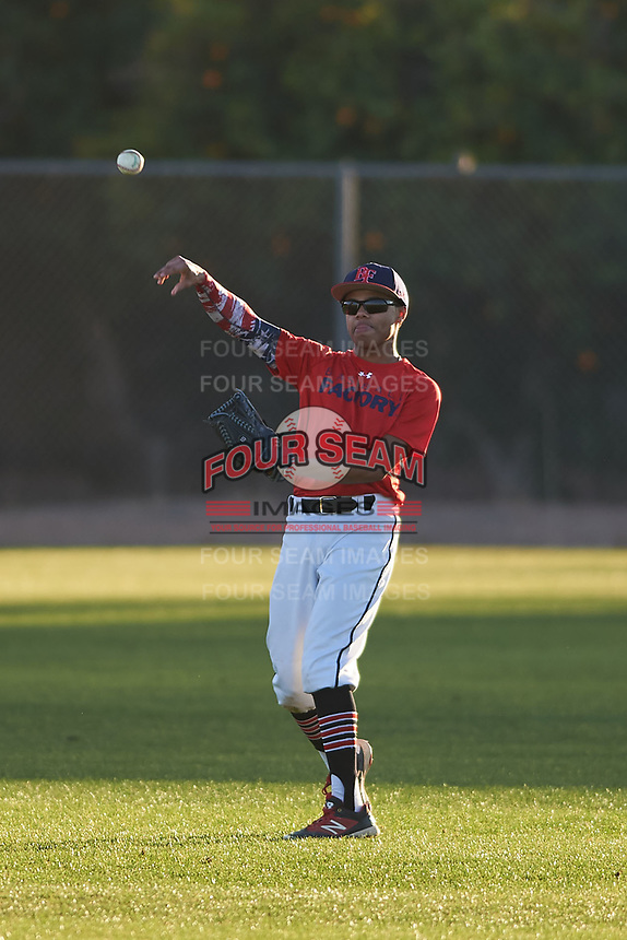 Brendon Gibson (44), from Indianapolis, Indiana, while playing for the Red Sox during the Under Armour Baseball Factory Recruiting Classic at Gene Autry Park on December 27, 2017 in Mesa, Arizona. (Zachary Lucy/Four Seam Images)