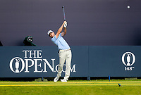 160719 | The 148th Open - Tuesday Practice<br /> <br /> Oliver Wilson of England on the first tee during practice for the 148th Open Championship at Royal Portrush Golf Club, County Antrim, Northern Ireland. Photo by John Dickson - DICKSONDIGITAL