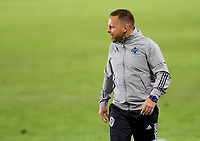 CARSON, CA - OCTOBER 18: Marc Dos Santos head coach of the Vancouver Whitecaps during a game between Vancouver Whitecaps and Los Angeles Galaxy at Dignity Heath Sports Park on October 18, 2020 in Carson, California.