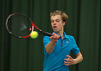 Rotterdam, The Netherlands, March 19, 2016,  TV Victoria, NOJK 14/18 years, Julian Prins (NED)<br /> Photo: Tennisimages/Henk Koster