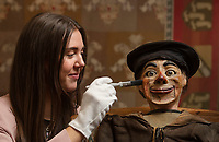 BNPS.co.uk (01202 558833)<br /> Pic: ZacharyCulpin/BNPS<br /> <br /> Pictured:  An unforgettable looking early 20th century ventriloquist's dummy in a sailor's costume from the collection of David and Paula Newman sold for £1300 at auction. The sailor doll was a trope made popular by Arthur Prince, a British ventriloquist whose puppet, Sailor Jim, would sing a song while Prince drank a glass of water or smoked a cigar.  <br /> <br /> An eclectic array of Continental figures and other unusual antiques sold for thousands of pounds with a British auction house.<br /> <br /> The sale featured a pair of Italian late 19th century walnut huntsmen figures which sold for £26,000, while an early 20th century ventriloquist's dummy in a sailor's costume which sold for £1300<br /> <br /> Other items that went under the hammer  with auctioneers Woolley & Wallis, of Salisbury, Wilts, were the Sir Michael Codron Collection of Lions, consisting of needlework, pottery and brass.