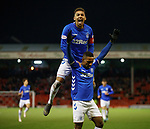 06.02.2019: Aberdeen v Rangers: Jermain Defoe celebrates his goal with James Tavernier