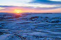 04/02/15<br /> <br /> After a night with temperatures falling well below freezing, dawn breaks over Mam Tor in the Derbyshire Peak District near Castleton.<br /> <br /> All Rights Reserved - F Stop Press.  www.fstoppress.com. Tel: +44 (0)1335 418629 +44(0)7765 242650