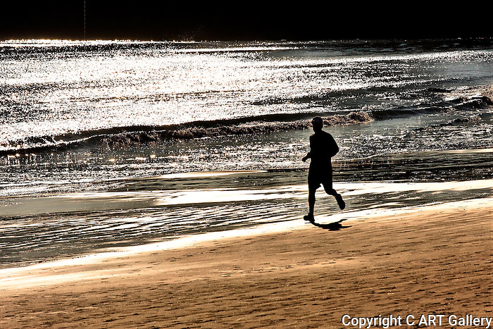 Running, Corona del Mar, CA.