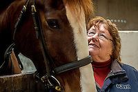 FAO Laura Lean.<br /> Friday 20 January 2017<br /> Pictured: Sue Scourfield pictured with Humphrey the horse at the stables <br /> Re: Sue Scourfield's riding school is  being hit by increasing business rates.